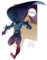 Gosh Batman by Nezart