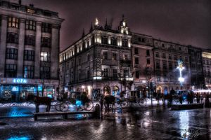 Krakow - market square by hired--gun