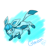 Glaceon by Bluekiss131