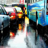 Rain and the traffic by TanBekdemir