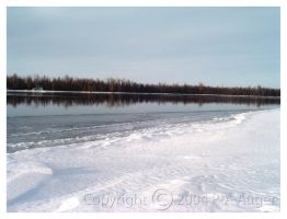 Winter River by paa34