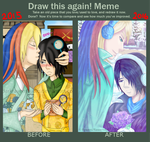 Before and After - DaiKame by Raweni