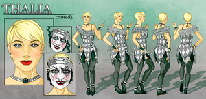 Thalia - Character Reference Sheet by tbdoll