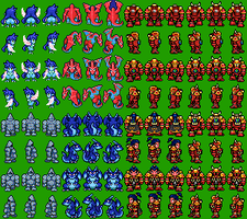 Chaos Marines Sprites by Asurael-Returns