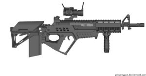 D-SAAR, Designated-Semi Automatic Assult Rifle by Oneofakindthief