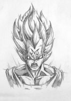 Vegeta Sketch by adammiconi