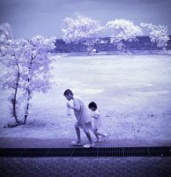 Brother and Sister - infrared by MichiLauke
