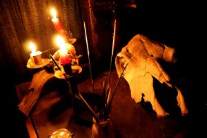 Skull by Candle Light by MichellePrebich