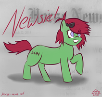 Horse News Ace Reporter, Newsie! by Sylverstone14