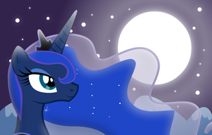 Luna and the Moon by GrayTyphoon