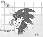 Sonic in the shower by ShadowNinja976