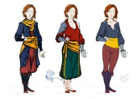 An Arimean Tale - Teodozja Clothes concepts by Oartbox