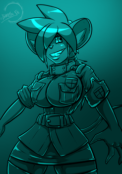 Dodger Cosplaying a Bit of Seras by Barrin84