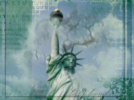 Lady Liberty Grunge by aibrean