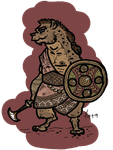 Gnoll warrior by Konquistador
