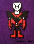 8 Bit The Great Papyrus [Underfell] by nickandsun17