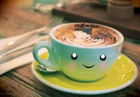 Smile at the Cafe II by FlabnBone