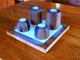 Turned Candle Holders by ianmcleod9