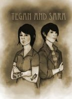 Tegan and Sara by ElderAutumnMoon