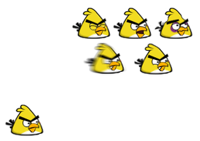 Old design yellow angry bird (Chuck) sprites by koshechkazlatovlaska