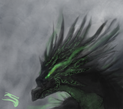 Painting dragon test by Slaizen