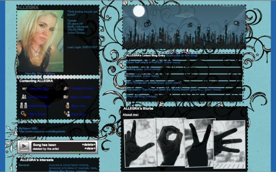 Myspace layout by allegrakate