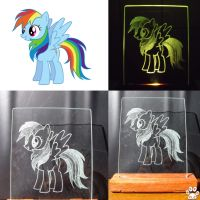 Rainbow dash Glass engraving by Neko-me