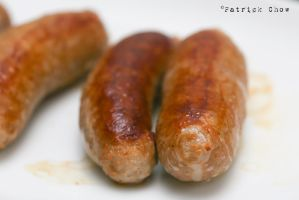 Grilled sausages by patchow
