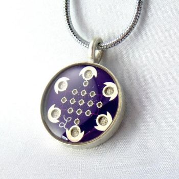 Purple Circuit Board Necklace by Techcycle