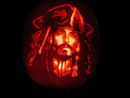 Captain Jack Pumpkin Carving by Keldarak