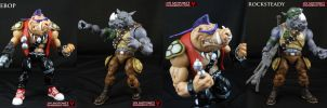 TMNT Classics Bebop and Rocksteady mods by Jin-Saotome