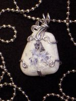 White wire wrapped pendant by Animus-Panthera