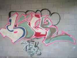 Sick Graffiti Throw-up by AntonSterling