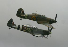 two ship hurricane spitfire by Sceptre63