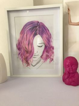 Finished Hair Portrait by anyus