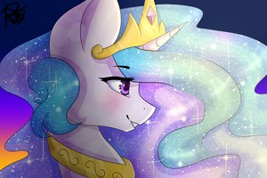 Princess Celestia Big collab by tuzziixx