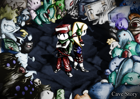 *OLD* Cave Story Wallpaper Colored by watermeloons