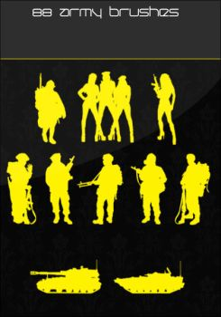 Army Silhoutte Brushes by urbanAR7
