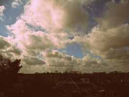 Clouds in the sunshine 1960s by Bexiieeee