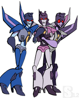 TFA - Starscream, Thundercracker, Skywarp. by xSharonthehedgehogx