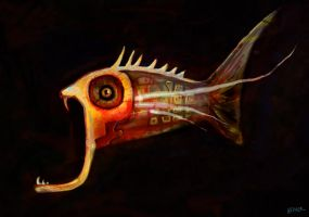 fish with a wide mouth by saramondo