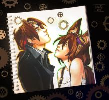 Doodle: steampunk by Kate-FoX