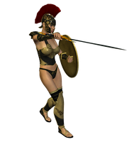 Spartana : Female Warrior 004 by Selficide-Stock