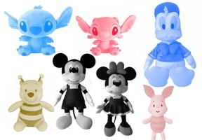 7 Disney Animation Image Plush Toys Brushes by Jia by Jiangsir