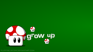 Mario Bros. Shrooms HD Wallpaper - Grow up by FluffyBlueCow