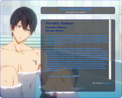 Free! Haruka Journal Skin by NotLucy