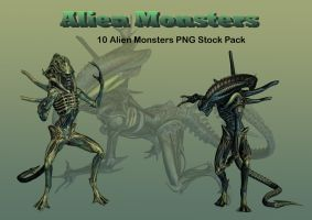 Alien Monsters PNG Stock Pack by Roys-Art