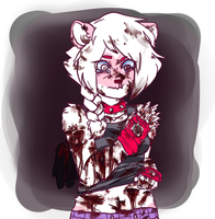 Pink lipstick stains, cigarette butts by PlaguePuppet