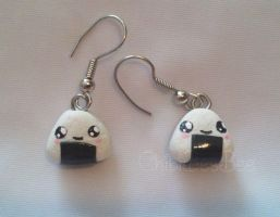 Onigiri Earrings by ChibiBeeBee