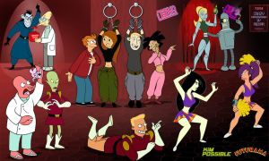 Kim Possible Futurama: Crazy crossover by mr35mm